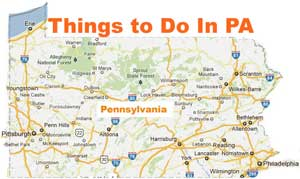 Pennsylvania Map - Attractions. Things to do in PA.